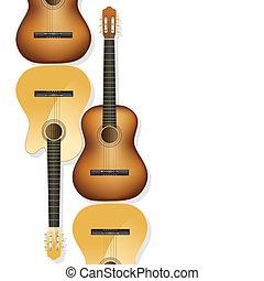 guitarra, acústico, fundo