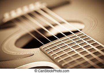 guitarra, acústico, grunge