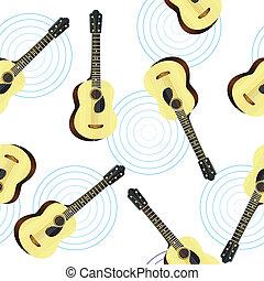 guitarra, acústico, seamless, textura