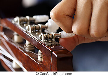 guitarra, afinación