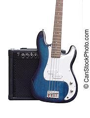 guitarra, amplificador, baixo