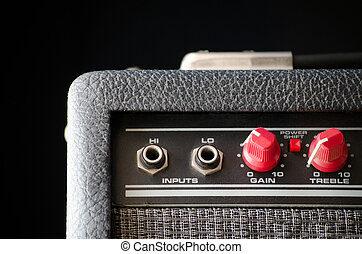 guitarra, amplificador, elétrico