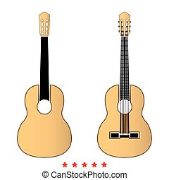 guitarra, apartamento, estilo, ícone