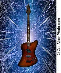 guitarra, baixo elétrico