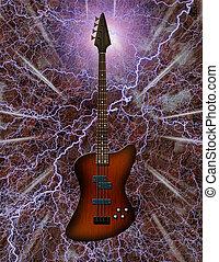 guitarra, bajo eléctrico