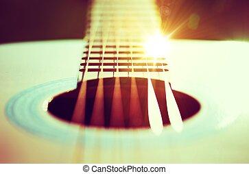 guitarra, cadeias, conceito