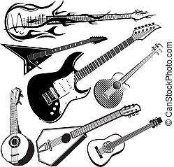 guitarra, cobrança