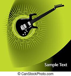 guitarra, disposición, página