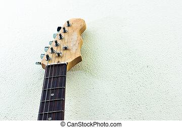 guitarra eléctrica, primer plano