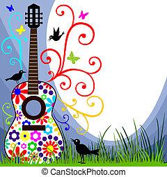 guitarra, em, a, prado
