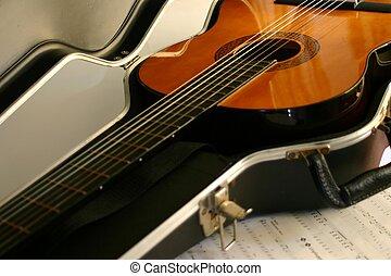 guitarra, em, caso
