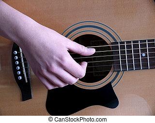 guitarra, entrenamiento