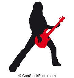 guitarra, herói
