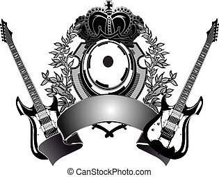 guitarra, heraldic