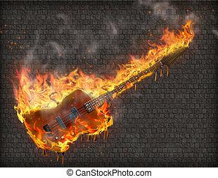 guitarra, inferno