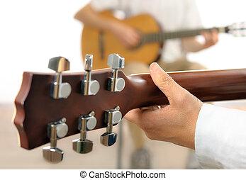 guitarra, lección
