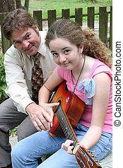 guitarra, lição, 3