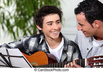 guitarra, lição
