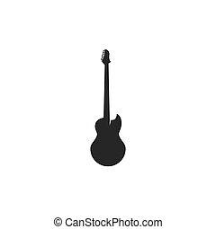 guitarra, logotipo