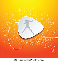 guitarra, música, diseño, pico