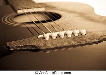guitarra, macro