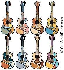 guitarra, mosaicos
