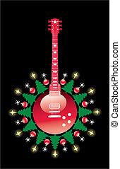 guitarra, navidad