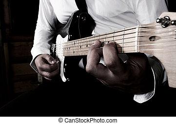 guitarra, playimg