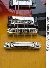 guitarra, primer plano