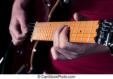 guitarra, relaxamento