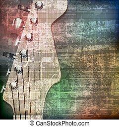 guitarra, resumen, grunge, eléctrico, plano de fondo