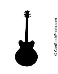guitarra, silueta