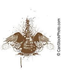 guitarra, voando