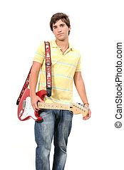 guitarrista, adolescente