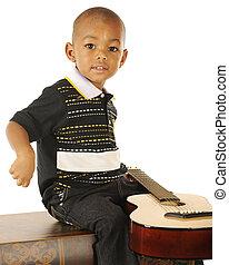 guitarrista, diminuto