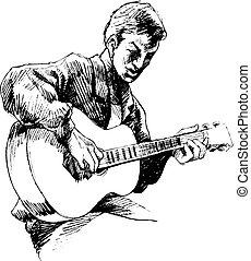 guitarrista, jovem