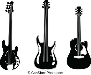 guitars collection - vector