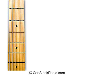 guitar's neck over white background - hi res 12,7 mpix