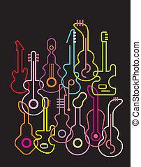 Guitars - vector illustration