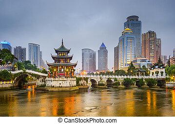 Guiyang, China Skyline - Guiyang, China city skyline on the ...