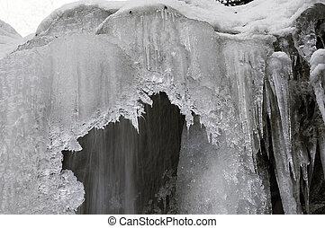 Guk Waterfall in winter