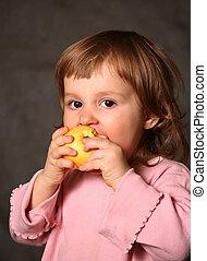 gul, äpple