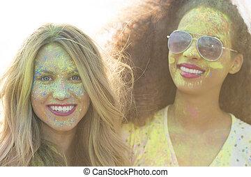 gul, är, den, färg, av, nöje