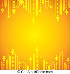gul, pil, baggrund