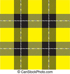gul, pläd, mönster, tartan
