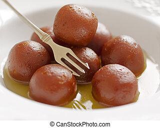 gulab, dessert, indiano, jamun