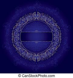 guld, årgång, violett, seamless, mönster, blommig