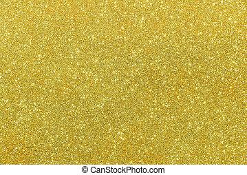 guld, abstrakt, glitter, struktur, bakgrund