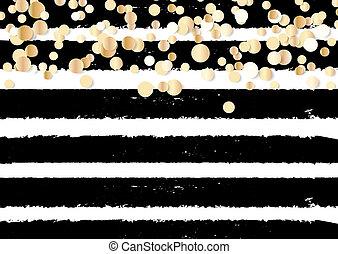 guld, abstrakt, polka, illustration, bakgrund, confetti., glitter, punkt