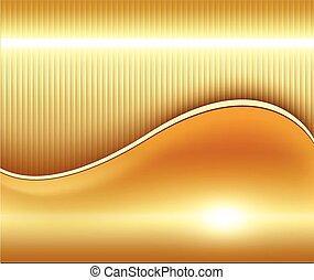 guld, bakgrund, abstrakt